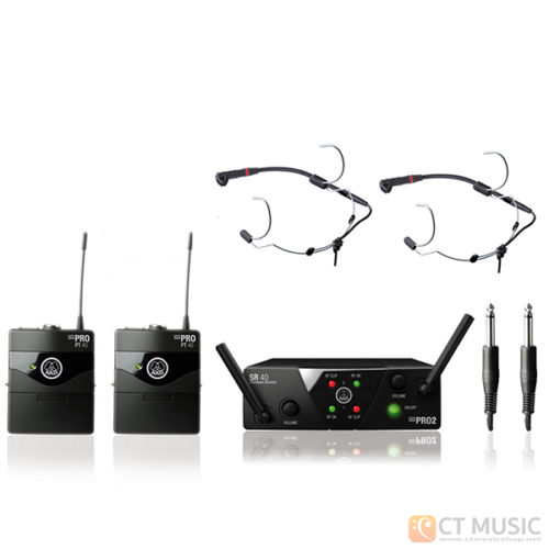 AKG WMS 40 Mini 2 Instrument + AKG C555L x 2
