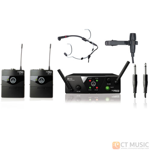 AKG WMS 40 Mini 2 Instrument + AKG CK99L + AKG C555L