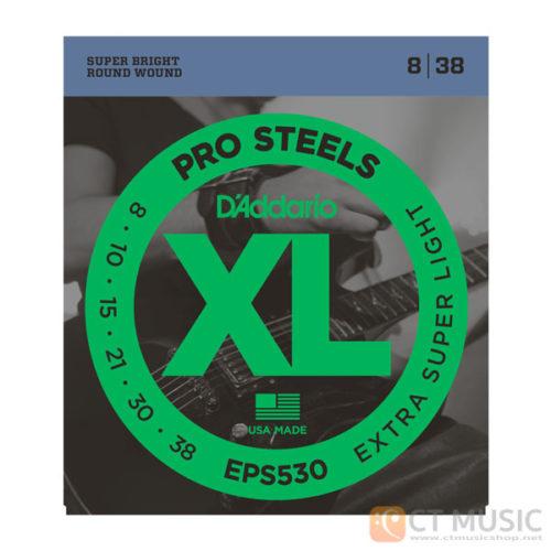สายกีตาร์ไฟฟ้า D'Addario EPS530 ProSteels Extra Super Light 008-038