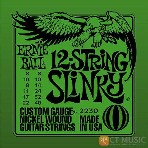 สายกีตาร์ไฟฟ้า Ernie Ball Nickel Wound 12 String Slinky 008-040