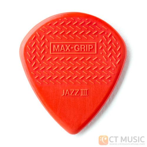 ปิ๊ก Jim Dunlop Max-Grip Jazz III Guitar Pick 471R