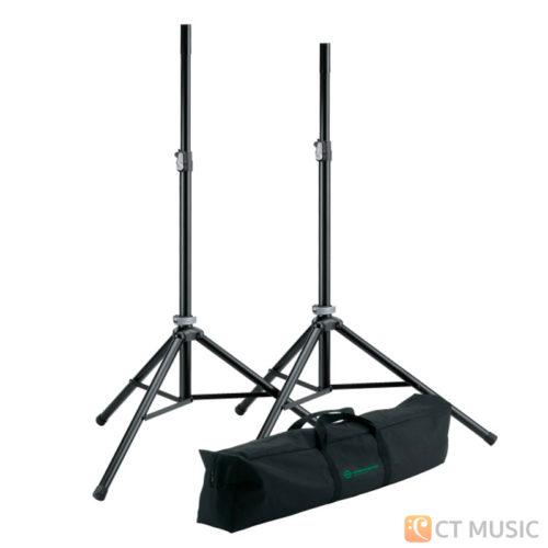 ขาตั้งลำโพง K&M 21449 Speaker stand package - black