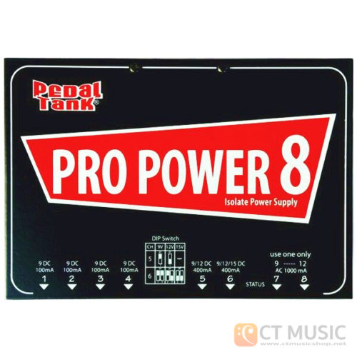 Pedaltank PRO POWER 8+ Isolated AC DC power supply