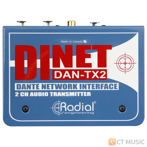 Radial Dinet Dan-TX 2-Channel Dante Network Transmitter