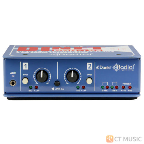 Radial Dinet Dan-TX 2-Channel Dante Network Transmitter