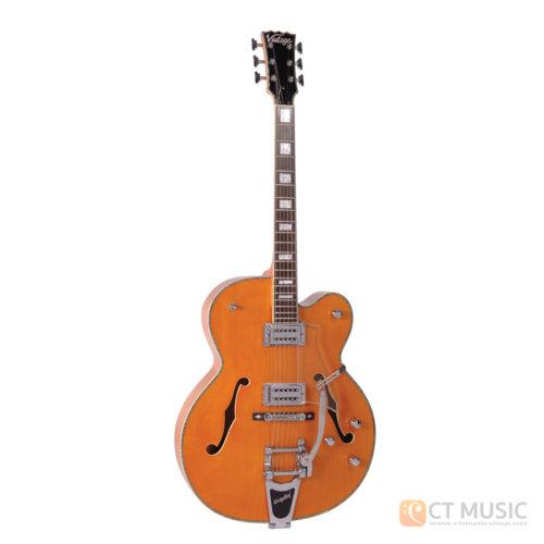 กีตาร์ไฟฟ้า Vintage Semi-Hollow VSA850OR Orange